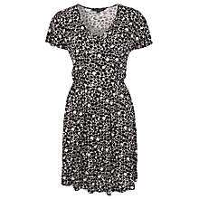Buy French Connection Amakhala V-Neck Dress, Oatmealmarl/Black Online at johnlewis.com