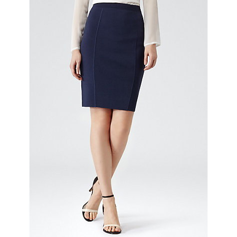 Buy Reiss Cadigon Bodycon Skirt, Indigo Online at johnlewis.com