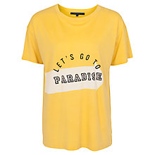 Buy French Connection Let's Go To Paradise Tee, Citronella Online at johnlewis.com