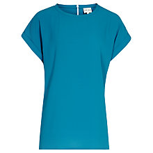 Buy Reiss Slit Back Top, Blue Online at johnlewis.com