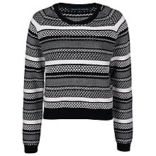 Buy French Connection Promise Jumper, Black/Winter White Online at johnlewis.com