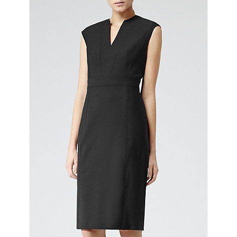 Buy Reiss Seamed Detail Dress, Black Online at johnlewis.com