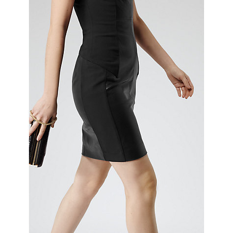 Buy Reiss Ponti Fitted Dress, Black Online at johnlewis.com