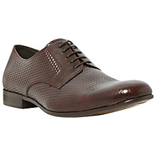 Buy Dune Aporia Textured Leather Derby Shoes, Brown Online at johnlewis.com