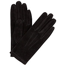 Buy John Lewis Suede Gloves, Black Online at johnlewis.com