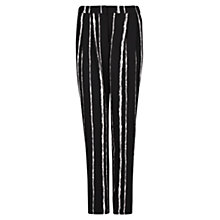 Buy Mango Striped Baggy Trousers, Black Online at johnlewis.com