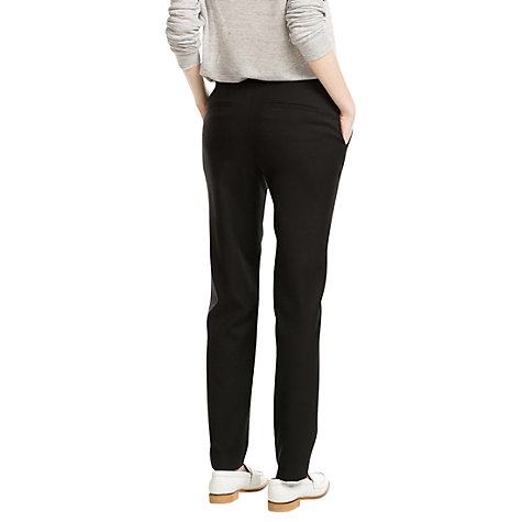 Buy Mango Satin Waist Trousers, Black Online at johnlewis.com