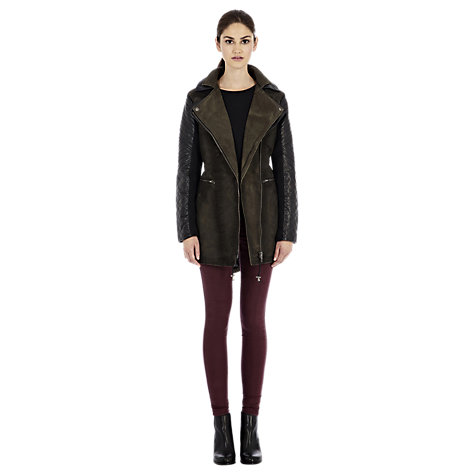 Buy Warehouse Washed Parka, Khaki Online at johnlewis.com