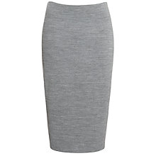 Buy Kin by John Lewis Ponti Ribbed Zipped Back Skirt, Grey Online at johnlewis.com