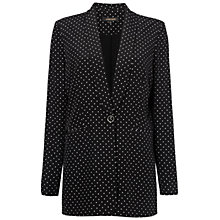 Buy Jaeger Spot Print Jacket, Black / White Online at johnlewis.com