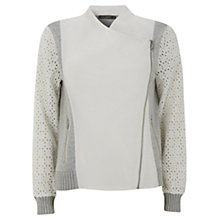 Buy Mint Velvet Knitted Brodrais Cardigan, Ivory Online at johnlewis.com