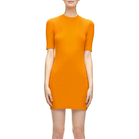 Buy Whistles Kayla Jersey Bodycon Dress, Orange Online at johnlewis.com