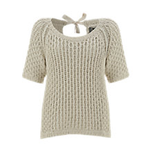Buy Mint Velvet Cotton Cable Knit, Neutral Online at johnlewis.com