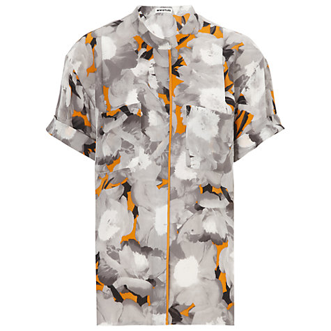 Buy Whistles Mystic Floral Blouse, Orange Multi Online at johnlewis.com
