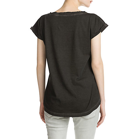 Buy Mango Distressed T-Shirt, Dark Grey Online at johnlewis.com