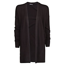 Buy Mango Ribbed Hem Cardigan, Black Online at johnlewis.com