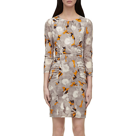 Buy Whistles Izzey Mystic Floral Bodycon Dress, Orange Multi Online at johnlewis.com