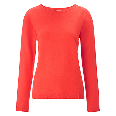 Buy Whistles Luiza Cashmere Jumper, Coral Online at johnlewis.com