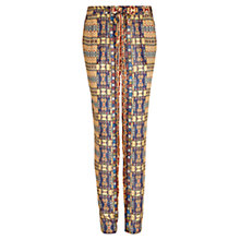 Buy Mango Loose Fit Printed Trousers, Navy Online at johnlewis.com
