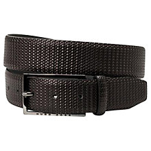 Buy BOSS Cameros Leather Belt, Black Online at johnlewis.com