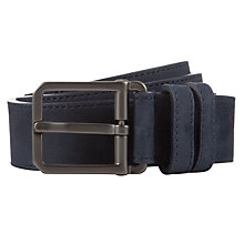 Buy BOSS Crosbo Leather Belt, Navy Online at johnlewis.com
