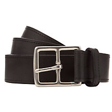 Buy Polo Ralph Lauren Heritage Leather Belt, Black Online at johnlewis.com
