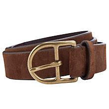 Buy Polo Ralph Lauren Suede Curved Buckle Belt Online at johnlewis.com