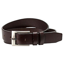 Buy BOSS Epan Casual Leather Belt, Brown Online at johnlewis.com