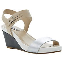 Buy Dune Getup Leather Tri-Colour Mix Wedges Online at johnlewis.com