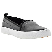 Buy Dune Lamarr Leather Trainers, Black Online at johnlewis.com