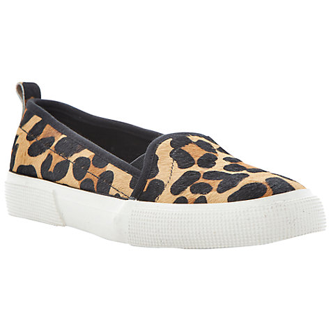 Buy Dune Lamarr Leather Trainers, Pony Print Online at johnlewis.com