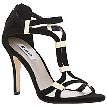 Buy Dune Harleigh Metal Tab Sandals, Black Online at johnlewis.com
