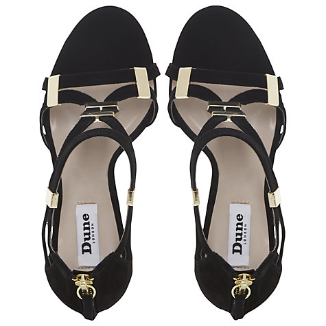 Buy Dune Harleigh Metal Tab Sandals Online at johnlewis.com