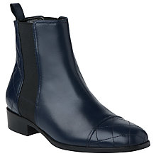 Buy L.K. Bennett Brooke Quilted Nappa Leather Ankle Boots, Black Online at johnlewis.com