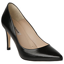 Buy L.K. Bennett Floret Patent Court Shoes, Black Online at johnlewis.com