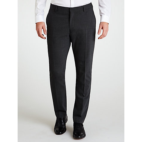 Buy Selected Homme Micro Houndstooth Suit Trousers, Charcoal Online at johnlewis.com