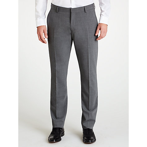 Buy Selected Homme Plainweave Suit Trousers, Grey Online at johnlewis.com