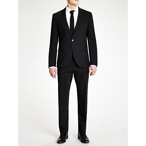Buy Selected Homme Plainweave Suit Trousers, Black Online at johnlewis.com