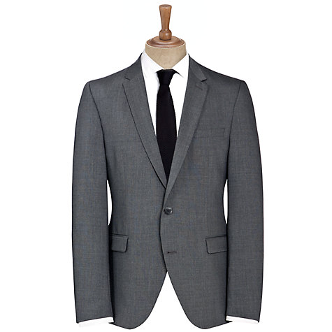 Buy Selected Homme Plainweave Suit Jacket, Grey Online at johnlewis.com