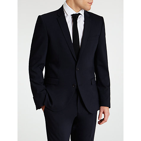 Buy Selected Homme Slim Fit Plainweave Suit Jacket, Indigo Online at johnlewis.com