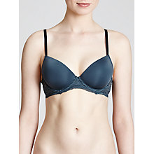 Buy Calvin Klein Infinite Lace Push Up Bra, Edison Blue Online at johnlewis.com