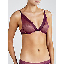 Buy Calvin Klein Icon Lace Plunge Bra, Sonic Purple Online at johnlewis.com