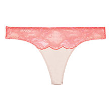 Buy Stella McCartney Julia Tumbling Thong, Neon Pink / Powder Rose Online at johnlewis.com