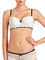Elle Macpherson Intimates Cloud Swing Persian Padded Contour Bra, Blue Glass / Insignia Blue