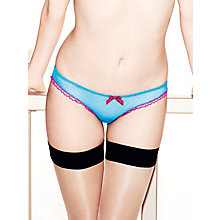 Buy L'Agent by Agent Provocateur Laia Mini Briefs, Turquoise / Fuchsia Online at johnlewis.com