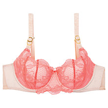 Buy Stella McCartney Julia Tumbling Demi Underwired Bra, Neon Pink / Powder Rose Online at johnlewis.com