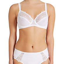 Buy Triumph Flower Passione Underwired Bra, White Online at johnlewis.com