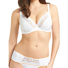 Buy Freya Enchanted Underwired Plunge Bra, White Online at johnlewis.com