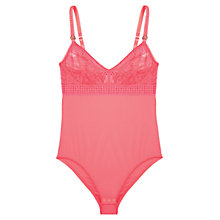 Buy Stella McCartney Magnolia Shrugging Bodysuit, Neon Pink Online at johnlewis.com