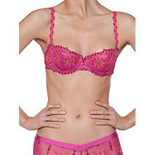 Buy Chantelle Vendome Balcony Bra, Fuchsia Online at johnlewis.com